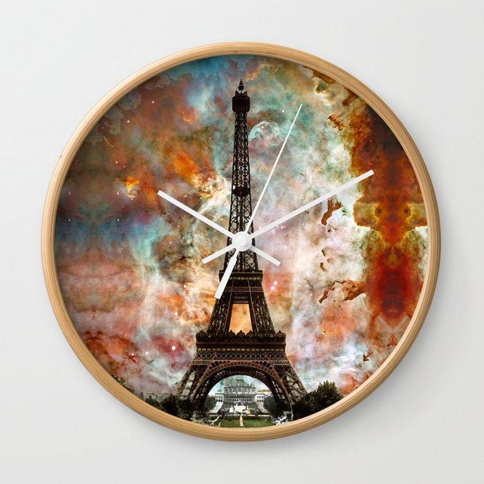 The Eiffel Tower - Paris France Art By Sharon Cummings Wall Clock