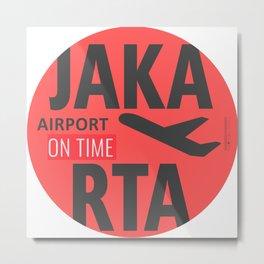 JAKARTA BADGE Metal Print