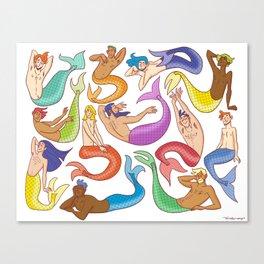 Mermen Canvas Print