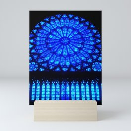 Notre Dame Stained Glass Mini Art Print