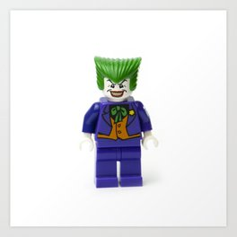 Haha funny man Joker Minifig Art Print