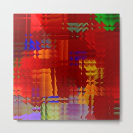 Square glass  5 Metal Print