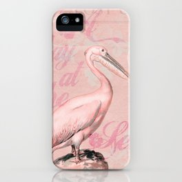 Retro Pelican Vintage Style Illustration iPhone Case