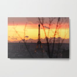 The Eiffel Tower at Sunset Metal Print