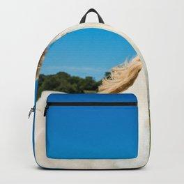 The Blue eyed horse Backpack