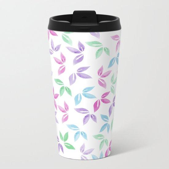 Flower Pattern VII Metal Travel Mug