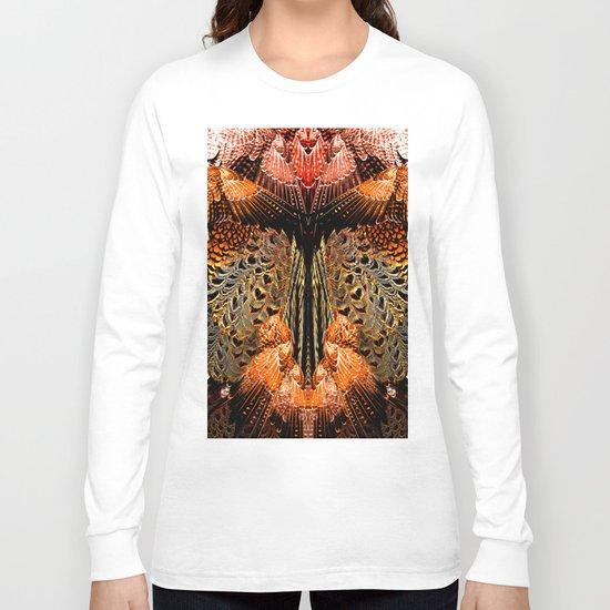 Butterfly Wings Pattern Long Sleeve T-shirt