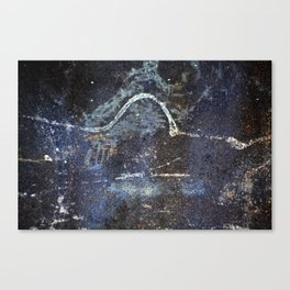 Abstract painting on rusty metal Canvas Print