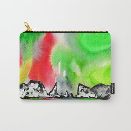 Northern Lights and Mountains - Green Palette Carry-All Pouch