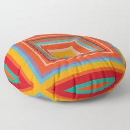 """""""Blood Orange Fizzle""""   Op art Floor Pillow"""