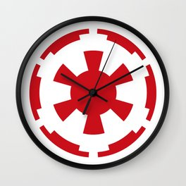 Imperial Cog in Red and White Wall Clock