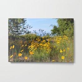 Lake Superior Flowers Metal Print