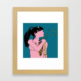 FIREFLIES Framed Art Print