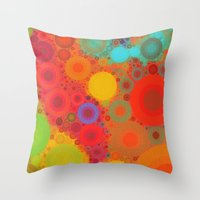 circles Throw Pillows featuring Circles by Mr and Mrs Quirynen