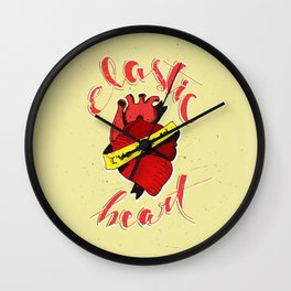 Elastic Heart Wall Clock