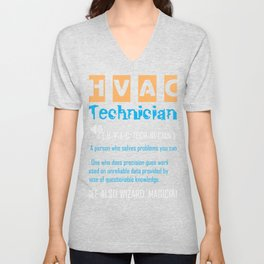HVAC Air Conditioner Heater Technician Definition print Unisex V-Neck