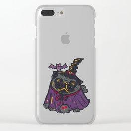 Pug Halloween Clear iPhone Case