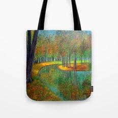 Autumn reflection  Tote Bag