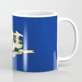 flag Connecticut,america,us,new England,constitution,Connecticuter,Yale,Nutmegger,Hartford Coffee Mug