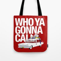 ghostbusters Tote Bags featuring Ghostbusters by Martin Lucas