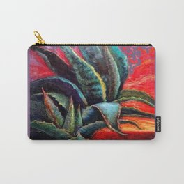 PUCE GREY ART DECO SOUTHWEST DESERT AGAVE Carry-All Pouch