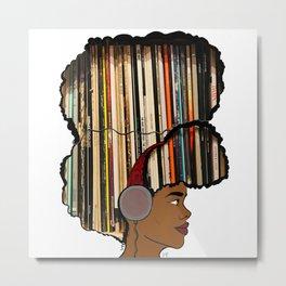 Put a Record On Metal Print