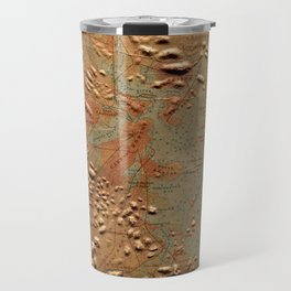 Vintage Relief Map of Boston MA (1874) Travel Mug