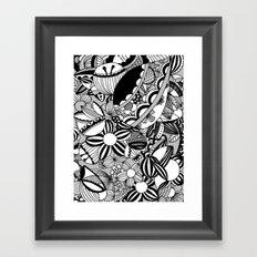 Happy and sad Framed Art Print