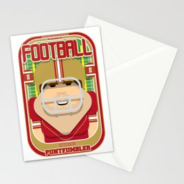 American Football Red and Gold - Enzone Puntfumbler - Bob version Stationery Cards