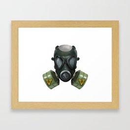 Toxic Gas mask Framed Art Print