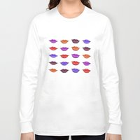 lipstick Long Sleeve T-shirts featuring Lipstick by Young Clerks