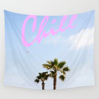chill Wall Tapestries featuring Chill by thecrazythewzrd