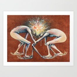 The Conjoined Collision Culmination Art Print