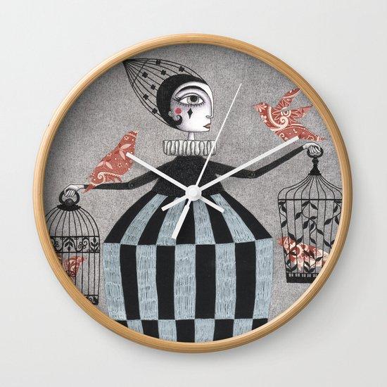 The Bird Act Wall Clock