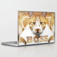 boss Laptop & iPad Skins featuring Cat boss by MICALI/ M J