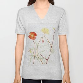 More fowers in my garden. Poppy. Unisex V-Neck