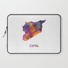 Syria in watercolor Laptop Sleeve