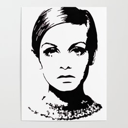 Twiggy Style Modern At Poster