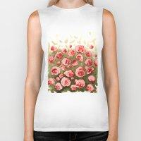 gradient Biker Tanks featuring Flowery gradient by Ivanushka Tzepesh