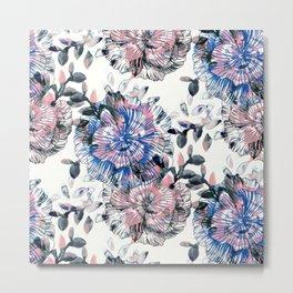 Watercolor petals Metal Print