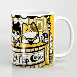 Cat Nap Cafe Coffee Mug