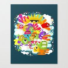 Monster Sunshine Friends Canvas Print