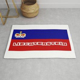 Liechtenstein Flag with Liechtensteiner Font Rug