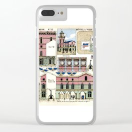 Paper Clock Tower Clear iPhone Case