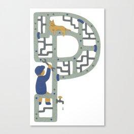 P as Plumber Canvas Print