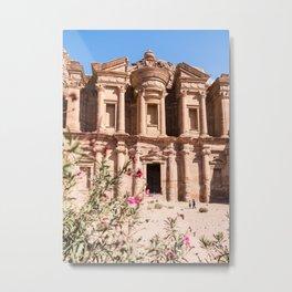 The Ancient Monastery in Petra, Jordan Metal Print