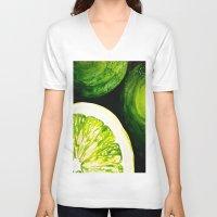 kiwi V-neck T-shirts featuring Kiwi by EM SMITH