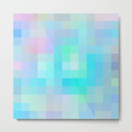 Re-Created Colored Squares No. 1 by Robert S. Lee Metal Print