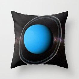 Planet Uranus Deep Space Telescopic Photograph Throw Pillow