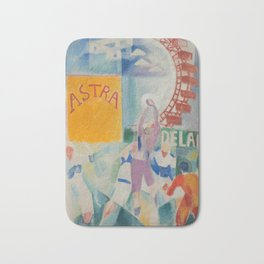"""Robert Delaunay """"Astra"""" (also known as Study for """"The Football Players of Cardiff"""") Bath Mat"""